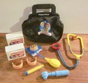 Vintage Fisher Price Medical Bag #2010 with Some Medical Equipment