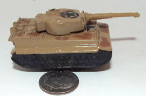 Small Die Cast German WWII type Tiger Tank in Brown Camouflage with Black Stars