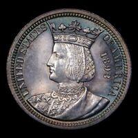 1893 Isabella Quarter 25c GEM++ Unc Gorgeously Toned * Stunning Commemorative *