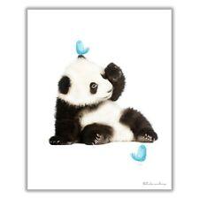 8x10 Nursery Wall Art Prints Panda Cub Animal Nursery Decor Unframed