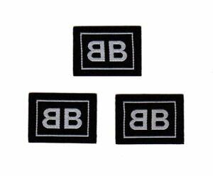 3 pcs Balenciaga Woven Patches Logo
