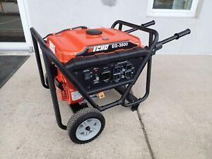 NEW ECHO EG-3500 GENERATOR, 3500W MAX, 212 CC GAS ENGINE, WHEEL KIT, 29 AMP