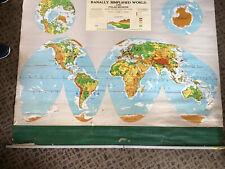 Ranally Simplified World and Polar Regions    Rand McNally & Co.