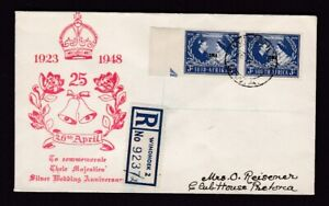South West Africa Namibia 1948 Silver Wedding illustrated first day cover FDC