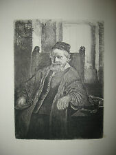 REMBRANDT JAN LUTMA The Goldsmith Gravure ancienne Edition ALVIN-BEAUMONT