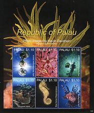 Palau 2013 MNH Marine Life VI 6v M/S Jelly Fish Star Fish Sea Horse Lion Fish
