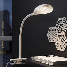 LED Schreibtischleuchte Tischlampe Klemmleuchte Klemmspot Leselicht Weiß T84