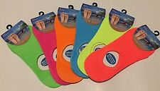 LADIES FOOTSIES INVISIBLE SHOE LINER SOCKS TRAINER COTTON RICH NEON PLAIN SOCKS
