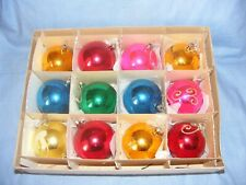 Vintage Christmas Glass Tree Decoration Ornament Baubles Antique Glass Boxed