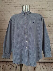 Ralph Lauren Polo Gingham Check Shirt Style Blake 100% COTTON. Large men's