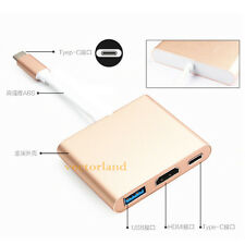 3 in 1 Type-C 3.1 to USB3.0 HDMI Type C Female Data Sync Charger Adapter Cable