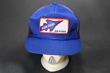 Vnt USAF Air Force AIM HIGH Blue Truck Hat Cap Embroidered Patch Snap Back Mesh