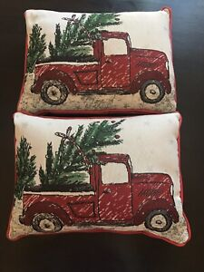Pair of Christmas Themed Decorative Cushions- hardly used
