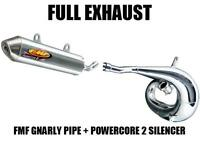 FMF GNARLY FULL PIPE EXHAUST AND POWERCORE 2 SILENCER 97-98 YAMAHA YZ250 YZ 250
