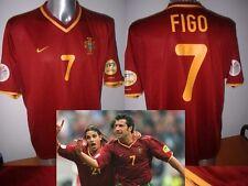 Portugal Luis Figo Madrid Nike Shirt Jersey Football Soccer Adult L Euro 2000