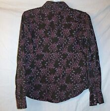 WOMENS ARIAT  COTTON FLORAL WESTERN  COWGIRL SHIRT SIZE S