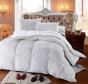 LUXURIOUS King Siberian GOOSE DOWN Comforter 1200 TC Egyptian Cotton