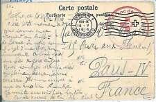 RED CROSS -  POSTAL HISTORY: POSTCARD -  SWITZERLAND  1916