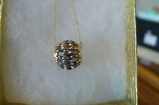 Jewelry Gold Real Tanzanite Gemstone Necklace #07