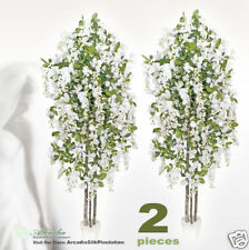 2 Wisteria 6.5' Real Wood Artificial Trees Potted 340WH