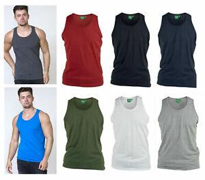 D555 Mens Long Length Pure Cotton Muscle Vest Duke Big Plus Sizes Medium to 8XL