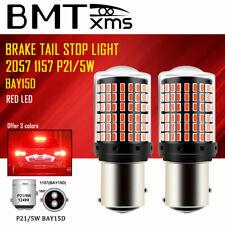 2Pcs 1157 BAY15D Red LED Brake Tail Signal Light Bulbs Super Bright Error Free