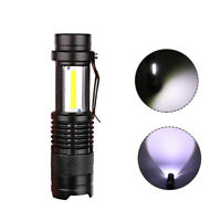 Mini USB Rechargeable LED Flashlight 3800lm 3Modes Adjustable Zoomable Torch