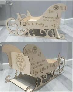Personalised Laser Engraved Wooden Christmas Sleigh