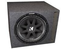 "Kicker 43C124 12"" 300W 4-Ohm COMP Car Audio Subwoofer + Single Vented Sub Box"