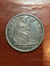1839 SEATED HALF DOLLAR SUPER CHOICE AU+ BEAUTIFUL