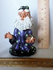 "Fantasy Mythical Magician Wizard Bobblehead with ""crystal ball"" - 4"" tall"