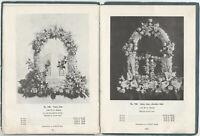 1920s American Catalog of Funeral Designs, Wedding Arrangements & Cut Flowers