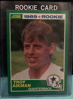 1989 Score Troy Aikman Rookie Card RC #270 Cowboys Gem Mint 9-10 PSA Ready