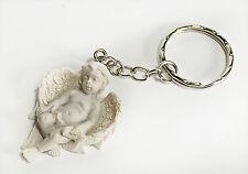 Shabby chic 4 cm angelot cherubin blanc porte-clés décoratif cadeau uk 100863