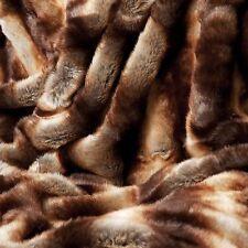 BEAUTIFUL ULTRA SOFT BROWN FAUX FUR PLUSH WARM THROW BLANKET GORGEOUS -NEW!