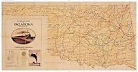 WOW! 1932 OKLAHOMA Steam Railroad & Electric Railways Map (OK Corporation Comm)