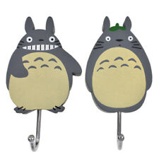 2x Anime Totoro Wall Hanger Hook Hat Towel Bag Holder Wooden Deco Cute Kids Room