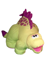 "Vintage 1992 Fisher Price Puffalump Brontosaurus Dinosaur Roar Plush Toy 18"""
