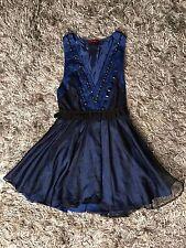 Women's Blue Lace Dress (Size Medium)