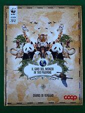ALBUM Figurine Sticker WWF IL GIRO DEL MONDO , Ed. COOP 2012 , COMPLETO !!! 100%