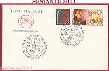 ITALIA FDC CAVALLINO LAVORO ITALIANO L'ARTE VETRO ARS ET LABOR 1985 CIRIE' T653