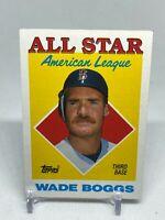 1988 Topps Wade Boggs Boston Red Sox #388 Baseball Card