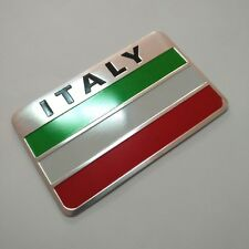 Italy Flag Emblem Badge Decal Car Front Side Bumper Sticker Aluminum alloy
