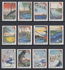Bhutan Sc 846-869 MNH. 1990 Paintings, cplt set, 12 stamps & 12 souv sheets, VF