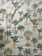 Custom Made Designer Tropical Plants Palm Trees Grecian Fabric Shower Curtain
