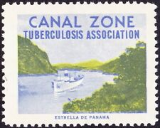Canal Zone - Undated - Tuberculosis Association Seal - Ship Topical - Mint w Gum
