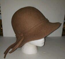 NORDSTROM camel Tan Wool Felt Wide Brimmed Floppy Hat
