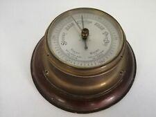 """Vintage Nautical Porthole Style Brass/Wood Wall Mountable 7"""" Barometer  UNTESTED"""