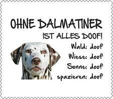 """Displayreinigunstuch Dalmatiner braun/weiß """"ALLES DOOF"""" Brillenputztuch GT0015"""