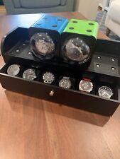 Fancy Winders & 6 Watch Box Boxy Watch Winder Set - 2